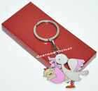 12 X KEYCHAINS BABY SHOWER PINK STORK RECUERDOS GIRL PARTY FAVORS GIFTS CUTE FUN