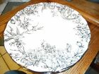 NEW 222 FIFTH PINK GOLD METALLIC ADELAIDE SPRING TOILE DINNER PLATE