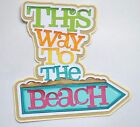 CraftECafeTo the Beach Summer Beach Paper Piecing Premade Scrapbook Page