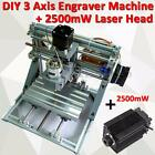2.5W Laser Engraver DIY Mini 3 Axis CNC Router PCB Milling Wood Carving Machine