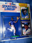 New Starting Lineup MLB 1990 Andre Dawson Expos Rookie Card & Chicago Cubs Card