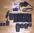 Nikon D50 Digital SLR Camera Bundle with 4 Lenses And Accessories