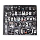 42Pcs Home Sewing Machine Braiding Blind Stitch Darning Presser Foot Feet Kit