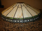 Vintage Spectrum Mission Arts and Crafts slag stained glass lamp shade tiffany