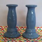 Fiestaware Periwinkle Y2K Millennium Tapered Candle Sticks - Fiesta Retired Set