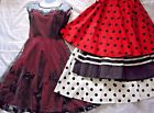Retro Vintage Swing Style Dress Pinup Size Small Choose Red Green Blue Polk Dot