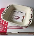 NIB Longaberger Baskets Pottery All American 8x8 2 qt Baking Casserole Dish USA