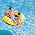 Inflatable 1 Person Island Floating Raft River Lake Pool Party Tube Ocean Water