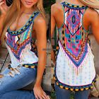 New Fashion Women Sleeveless Print Vintage Style Tank Tops Loose Casual DKVP01