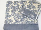 Waverly Claire True Blue Garden Toile Floral Gingham Window Valances (Set of 2)