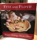 Fitz And Floyd Winter Holiday Santa Server