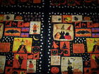 SALE !! 1 Panel WITCHFUL THINKING Dan DiPaolo Clothworks black cats witch