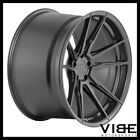 20 ROHANA RF2 BLACK CONCAVE WHEELS RIMS FITS INFINITI Q50 SEDAN