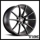 20 SAVINI BM12 BLACK CONCAVE WHEELS RIMS FITS LEXUS GS300 GS400 GS430