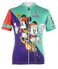 MICKEY MINNIE MOUSE Team Cycling Jersey Retro Road Pro Clothing MTB Short Sleeve