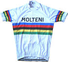 MOLTENI EDDY MERCKX Team Cycling Jersey Retro Road Pro Clothing MTB Short Sleeve