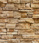 Faux Stone Peel and Stick Wallpaper LtGrey Sand Self Adhesive Contact Paper