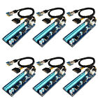 6 Pack USB 30 HUB PCI E Express 1x To 16x Extender Riser Card Adapter Cable