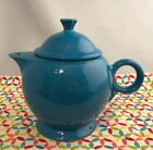 Fiestaware Peacock Teapot with Lid Retired Blue Large 44 oz Tea Pot