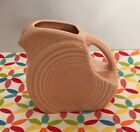 Fiestaware Apricot Mini Disc Pitcher - HLC Fiesta Retired Peach Pink Creamer