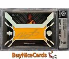 2007-08 Kevin Durant Upper Deck Black Patch Material RC Rookie Auto 50 BGS 9