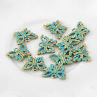 10pcs Butterfly Bronze Green Charms Beads Pendant DIY Jewelry Making 1511mm