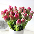 Mothers Day 12pc set Pu Stunning Holland Mini Tulip Flower Real Touch Wedding