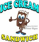 Ice Cream Sandwich Decal Choose Your Size Food Truck Sign Concession Sticker