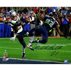 Malcolm Butler Signed Metallic Superbowl XLIX INT 16x20 Photo (LE 149) Steiner