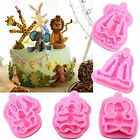 Mujiang Animal Molds Silicone Fondant Cake Decorating Supplies Set Of 5 Other