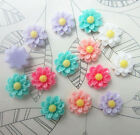 Free shipping 12pcs Resin flower flat back Scrapbooking For phone craft DIY NEW