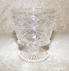 Vintage Sherbet Dessert Cups Clear Glass Footed Set of 4