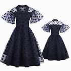 Vintage Style 50s 60s Rockabilly Pinup Housewife Retro Swing Evening Party Dress