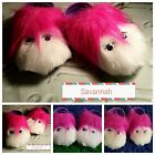Kids Unisex Fun Furry Novelty Monster Slipper Sandal Gift Mules Pink Animal Shoe