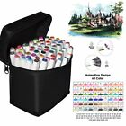 60 Color Set Markers Pen Touch New Graphic Art Five Sketch Twin Tip Free Gift US