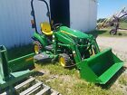 John Deere 1023E with 60D Deck and H120 Loader