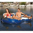 NEW Relax Summer Inflatable Raft Couples Tube River Lake Pool Floaty Ice Cooler