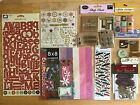 50+ packages sheets scrapbooking lot stickers rub ons metal embellishment lot 1