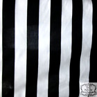 Black and White Striped Fabric 2 Extra Large Black White Poly Cotton 58 Inch