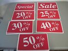 lot 27 signs  off retail store sale Business Discount Promotion Message sign