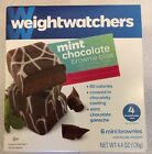 Weight Watchers Mint Chocolate Brownie Bliss bites 12 mini brownies Two boxes
