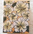 Hibiscus Portrait Rubber Stamp Hero Arts Floral Botanical UNINKED Wood Mounted g