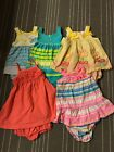 Lot Of 5 Carters baby girl size 9 18 mo Summer dress set Pink Yellow Blue Green