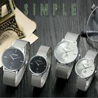 30m Waterproof Stainless Steel Milanese Mes Band Quartz Mens & Womens Watches