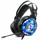 Gaming Headphones with Microphone Headset For PC Computer Gamer New LED USB