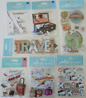 Scrapbooking Stickers Lot Jolees Boutique TRAVEL Suitcase Globe Airplane