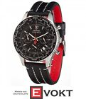 DETOMASO Firenze Mens Watch Chronograph Stainless Steel Silver/Black New