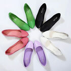 Womens Leather Slip On Flats Loafers Casual Ballet Ballerina Shoes Single Shoes