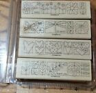 STAMPIN UP A LITTLE BIT OF HAPPINESS BORDER MOUNTED RUBBER STAMP SET OF 4
