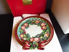 Fitz & Floyd Classics Christmas Deer Canape Plate New in Box-Retired